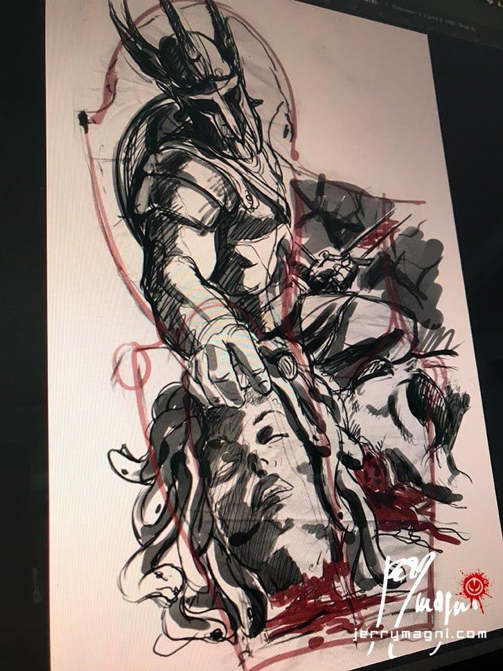 Perseus Kills Medusa Jerry Magni Tattoo Artist